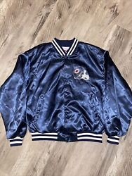 Vintage Swingster Chicago Bears Nfl Satin Jacket Made In Usa Size Xl Rare