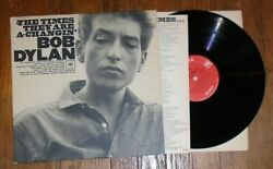 Bob Dylan Record Album The Times They Are A-changin' Early Mono Cl - 2105 Free