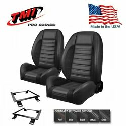 Tmi Pro Series Sport R Bucket Seat Set +rear For 1964 - 1970 Mustang Convertible