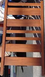 Vintage Solid Wood Bunk Bed, With Metal Bed Frames, And Safety Rail – No Ladder