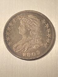 1809 Capped Bust Half Dollar, Tough Early Silver 50c