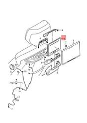 Genuine Audi A8 Holder For Tablet Pc For Travel And Comfort System 4n0882629c