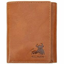 Bull Guard Trifold Wallet With RFID For Men Genuine Leather Card And Cash For $41.80