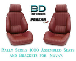 Assembled Seats And Brackets For 1963-1979 Nova 80-1000-56 Rally 1000 Series Scat