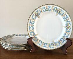 """Antique Paragon 'floral Fantasy' 8"""" Plate, Set Of 6, Majesty Queen England Mint"""