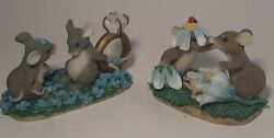 2 Charming Tails Figurines Figurines Hand Crafted Fitz And Floyd Inc.