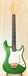Valley Arts S-2 M Series Green Made In Japan St Type W/ Emg Pickup, F1218
