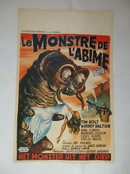 Sci Fi/the Monster That Challenged The World /u6cf /belgium Poster