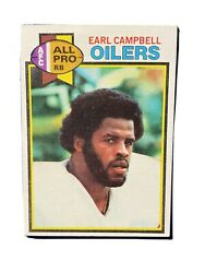 1979 Topps Earl Campbell Houston Oilers 390 Football Card