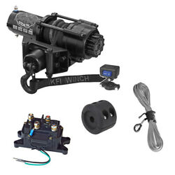 Kfi Se25 Stealth 2500lb Winch With Mount For 2007-2015 Yamaha Grizzly 700 4x4