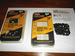 Lot Of Oregon S56 16-inch Chainsaw Chain - 2 Pack + 1 More In Open Box Fast Ship