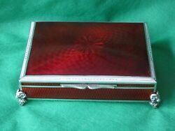 Gorgeous Antique Silver Enamel Jewelry Table Box Austrian Hungarian Sterling