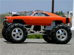 Clear Unpainted Rc Body Hpi 1969 Dodge Charger 1/8 Savage E Maxx Summit Revo