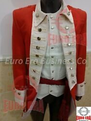 Napoleonic British Marine Military Officers Frock Coat And Vest And Sash In All Size