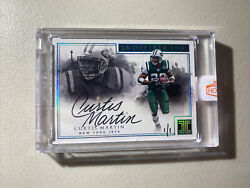 2017 Panini Impeccable Football Indelible Ink Autograph Jets Curtis Martin 1/1