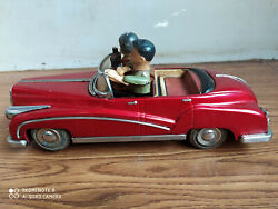 Rare Old Chinese Made Photographer Couple Tin Toy Car Of 60s, Working Order.