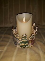 Heather Goldminc Blue Sky Holiday Cottages Candle Holder Christmas Collection