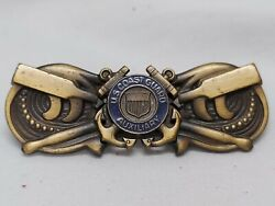 United State Coast Guard Auxiliary Large Coxswains Pin Badge With Clutch Back