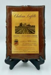 Vintage Chateau Lafitte Grand Vin 1973 Wine Label Sign Plaque Wall Decor On Wood