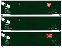 Ho Accurail 8121 General American Prr, Cbandq And Ri 50' Steel Boxcar 3 Pack - Kits