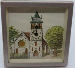 Antique Working 1934 Lux St Josephe's Cathedral Animated Bell Novelty Desk Clock