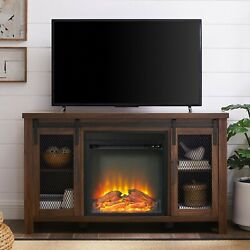 Tv Stand With Fireplace Tv Console Cabinet Entertainment Center For 55 Tvs