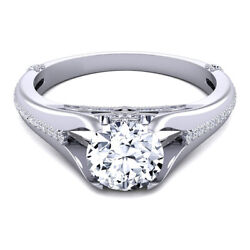 Round Cut 0.80 Ct Real Diamond Wedding Rings 18k Solid White Gold Size M N O P Q