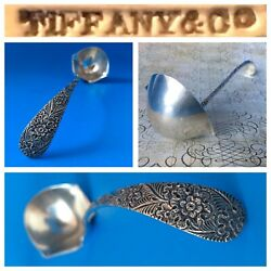 Co. Extremely Rare Exquisite Hand-chased Sterling Silver Ladle 42 Grams