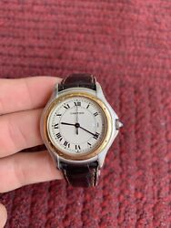 Authentic Cougar 18k And Stainless Steel Unisex Watch