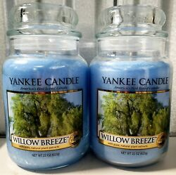 Yankee Candle Willow Breeze Lot of Two Large 22 oz.