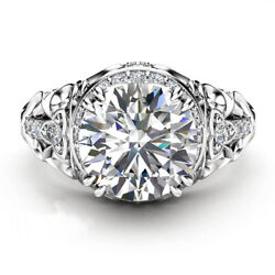 1.00 Ct Real Diamond Engagement Ring 14k Solid White Gold Band Size 5 6 7 8