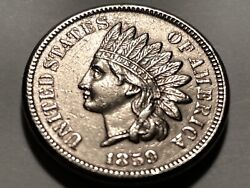 1859 Indian Head Cent One Year Type  Nice Bu 1