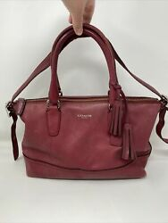 Coach Legacy Molly 21132 East/west Leather Satchel Andndash Black Cherry Read