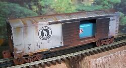 O Scale Lionel Custom Weathered Gn Great Northern Box Car With Gn Container Load