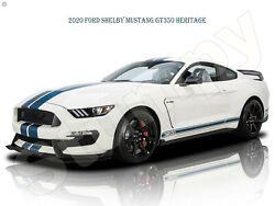 2020 Ford Shelby Mustang Gt350 Heritage Metal Sign 9 X 12 Or 12 X 16