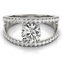 0.90 Carat Real Diamond Engagement Band Solid 950 Platinum Ring Size 5 6 7 8