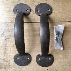 Pair Of Cast Iron Door Pull Handles Quality Reproduction Cupboard