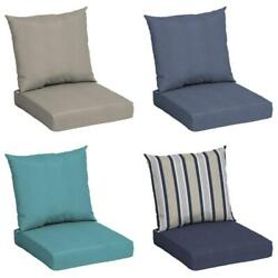 Outdoors Use Deep Seat Chair Patio Cushions Set Pad Uv Resistant Porch Furniture