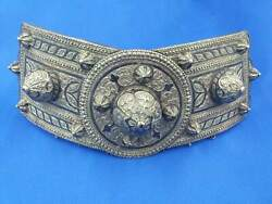 Antique Silver Buckle From The National Caucasian Women's Dress.old 84 Test Name