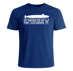 Uss Thresher Ssn-593 T-shirt Us Navy Officially Licensed