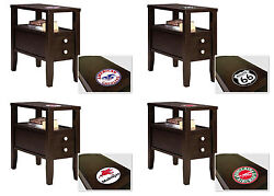 Fc367 Gas Themed Logo Espresso Cappuccino Wood Accent Side End Table Nightstand