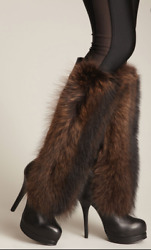 Rare Thomas Wylde Black Leather/fur Tall High Heel Boots Size 7 Msrp 2695