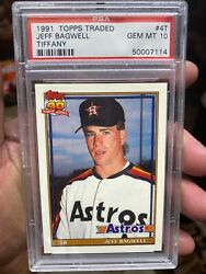 Psa 10 Topps Traded Rookie Hof Jeff Bagwell Centered +50/50+ Nice Tough