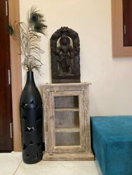 1800and039 Ancient Wood Hand Carved South India Chariot Hindu Religious Figure Panel