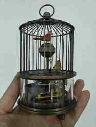 Chinese Old Rare Brass Birdcage Mechanical Table Clock