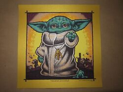 Todd Slater Baby Yoda Screen Print The Child Star Wars Gold /75 Poster Art Bng