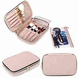 Yarwo Travel Makeup Brushes Bag Portable Cosmetic For up To 9.4amp;quot And Rose $26.96