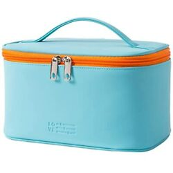 Makeup Bag Portable Travel Cosmetic For Women Beauty Zipper Organizer With PU $15.96