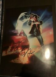 Michael J Fox Back To The Future Signed 11x14 Photo Autograph Rare Hot Poster