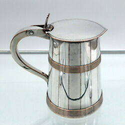 18th Century Antique George Iii Old Sheffield Tankard And Cover Circa 1790